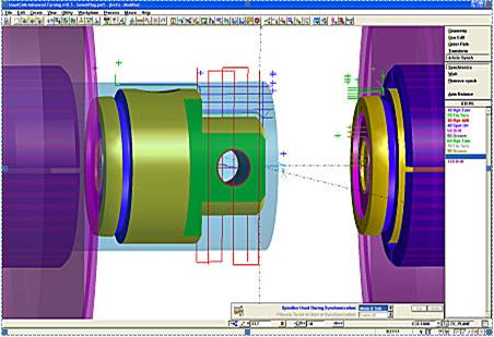 Sub-spindle of a Mill/Turn part programmed with SmartCAM Advanced Turning v18.5